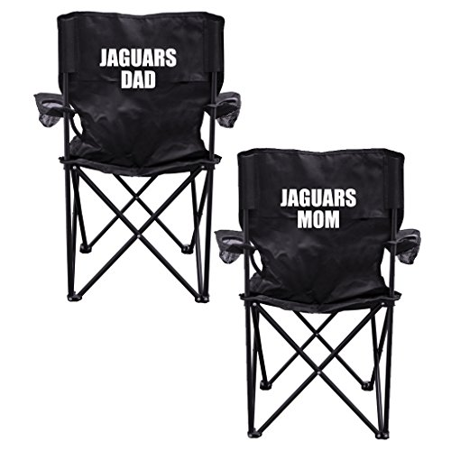 Jaguars Parents 2 Black Folding Camping Chair Set of 2 with Carry Bags by VictoryStore