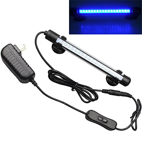 Mingdak LED Aquarium Light For Fish Tanks,18 LEDS,7.5-Inch,Blue