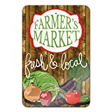 "Farmers Market Novelty Metal Sign 18"" x 12"""