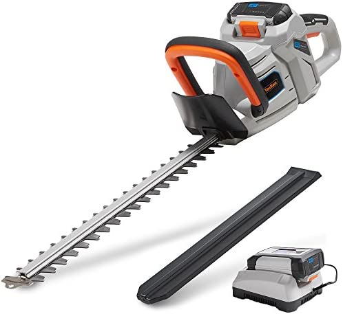 VonHaus 40V Max 20 Dual Action Cordless Hedge Trimmer with 2.0Ah Lithium-Ion Battery and Charger Kit Included