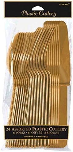 amscan Cubiertos Oro (8x3)