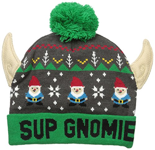 Christmas Hats - Wembley Men's Holiday Christmas Beanie Hat with Ears, Green, One Size