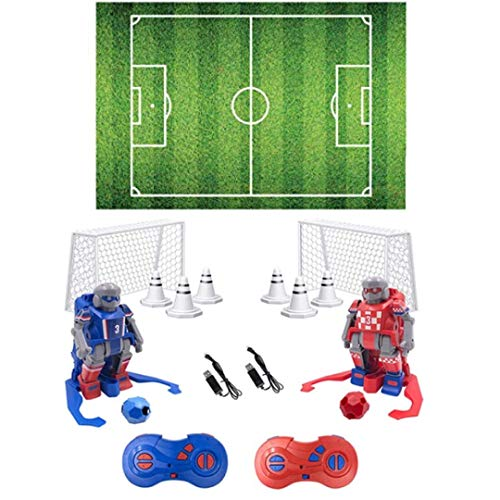TGQ KIDZ Soccer Robots for Kids Toys RC Game with 2 Player Remote Controls Soccer Games