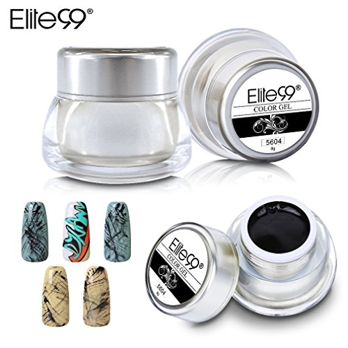 Elite99 3D Color UV Gel Nail Art Paint Draw Painting Acrylic Tip Drawing Gel Soak Off UV LED Manicure DIY 5604 (Nail Art Painting)