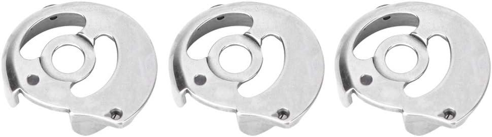 Solomi Caja de la Bobina, CP-G12C 845 Piezas de máquina de Coser Industrial de Doble Aguja pequeña Piezas de Metal Shuttle Shell Set 1Pcs o 3Pcs(3PCS)