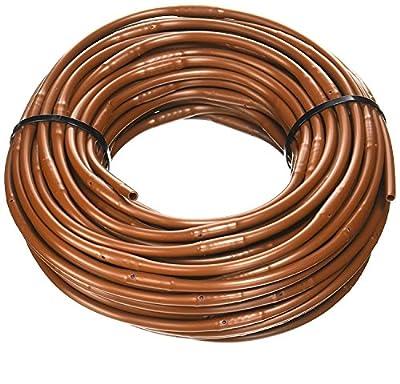 1/4-Inch x 100-Feet Irrigation / Hydroponics Dripline with 6-Inch Emitter Spacing (Brown)