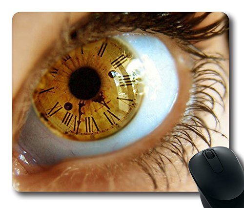 Best Quality & DIY Pure Custom Eyes Time Oblong/Rectangular Mouse Pad in 9