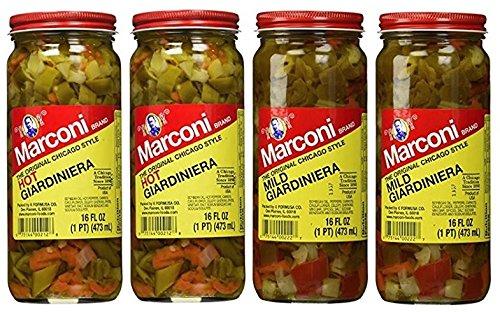 Marconi The Original Chicago Style Hot & Mild Giardiniera 16 oz (Variety Pack) (Best Italian Beef Sandwich)