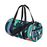 Forest Fox Deer Lightweight Canvas Sports Bag Travel Duffel Yoga Gym Bags Women