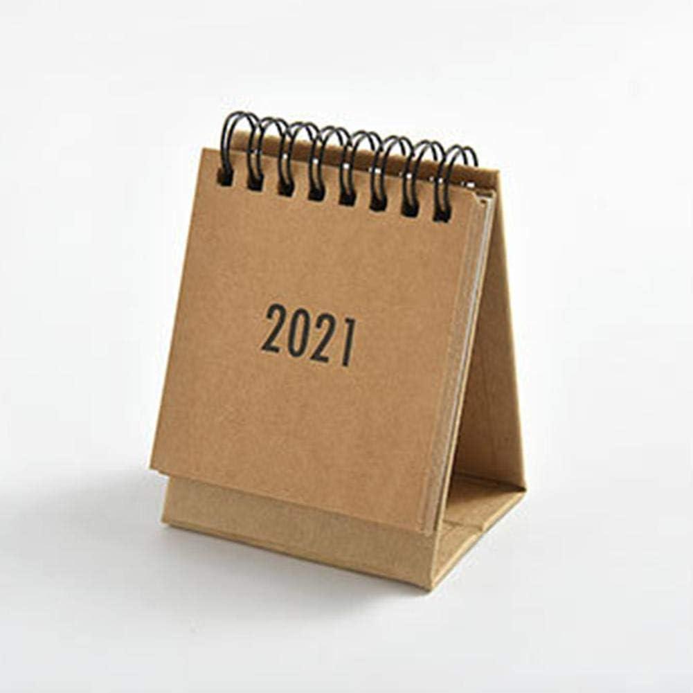 2021 Anni per lorganizzazione e la Pianificazione YINFENG 2020-2021 Calendario da Tavolo Mini Calendario Portatile