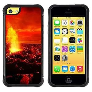"""Pulsar iFace Series Tpu silicona Carcasa Funda Case para Apple iPhone 5C , Magma Lava Fuego Venus Planeta Rojo Cielo Universo"""""""