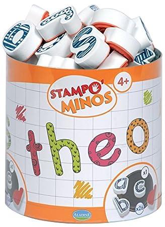 Aladine Stampominos Lote de sellos diseño de abecedario