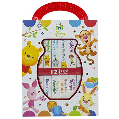 - Disney Baby - Winnie the Pooh - My First Library Board Book Block 12-Book Set - PI Kids