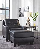 Ashley Furniture Signature Design - O'Kean Upholstered Leather Chair - Contemporary - Navy