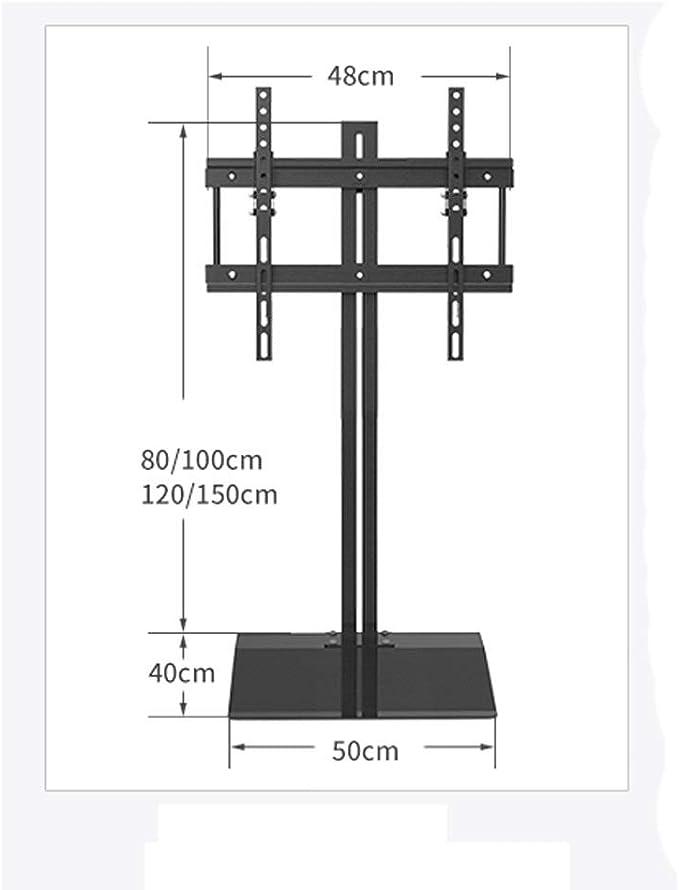 Zlw-shop Soporte de TV Ajustable 32~70 Pulgadas LCD TV Monitor Soporte de Piso Oculto Estante móvil multifunción sin Perforaciones Soporte Giratorio para TV (Color : A): Amazon.es: Electrónica