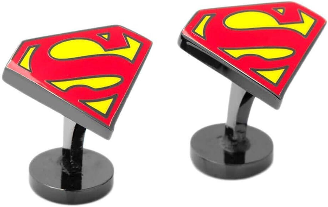 Superman Gemelos de Esmalte DC Comics Shield: Amazon.es: Joyería