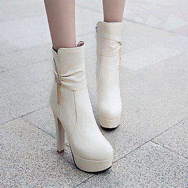 Piel Botas Novedad 5 Invierno RTRY Botines Moda Puntera Pu Talón 5 Botas UK1 Chunky Sintética Otoño Zapatos Botines De US3 Mujer De Redonda Confort CN32 EU33 De Strass wgI0gO