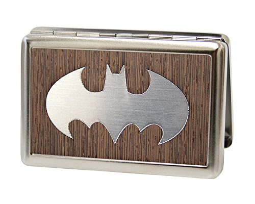 Buckle-Down Metal Wallet - Batman Marquetry Black Walnut/metal Accessory at Gotham City Store