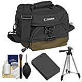 Canon 100EG Digital SLR Camera Case with LP-E12 Battery + Tripod + Accessory Kit for EOS Rebel SL1