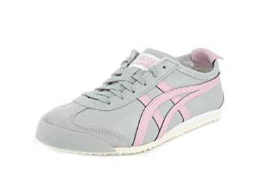 Onitsuka Tiger Mexico 66 Womens in Mid GreyRose Water, 5.5