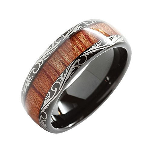 Tungsten Carbide Inlay Comfort Wedding
