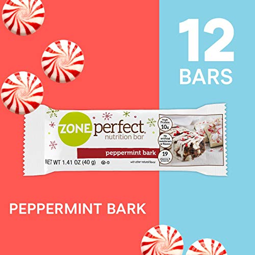 ZonePerfect Nutrition Snack Bars, 10g High-Quality Protein, Limited Edition Peppermint Bark, 1.41 oz, (12-count)