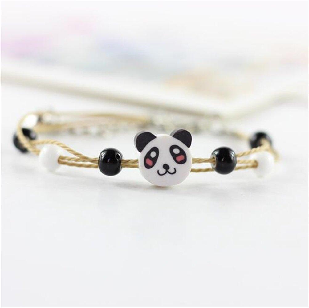 Easyflower Cute Cartoon Animals Shape Beaded Bracelet(Panda)