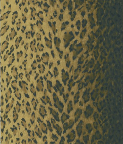 Brewster 405-49434 National Geographic Home Leopard Dark Brown Animal Print Wallpaper