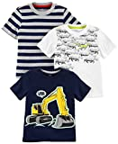Simple Joys by Carter's Baby Boys' Toddler 3-Pack Graphic Tees, Digger,Stripe,Dino, 4T