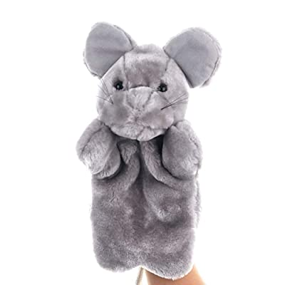 Fanthee Hand Puppet,Cute Mouse Hand Puppet Plush Doll Kids Storytelling Preschool Toy New Year Gift Grey: Sports & Outdoors