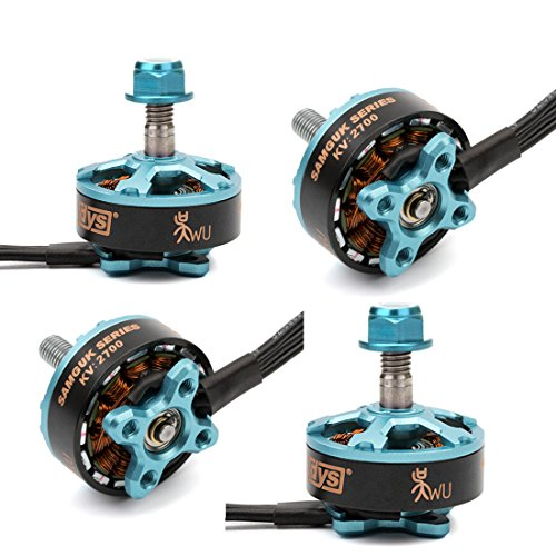 Crazepony 4pcs DYS 2206 2700KV Brushless Motor 2CW 2CCW 3-4S Lipo for RC FPV Racing Drone Quadcopter by (2206 2700KV-Sumguk Series Wu)