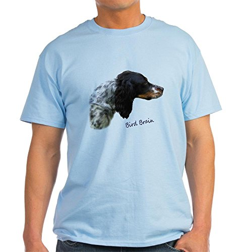CafePress Llewellin Setter Bird Brain Light T-Shirt - 100% Cotton T-Shirt Llewellin Setters