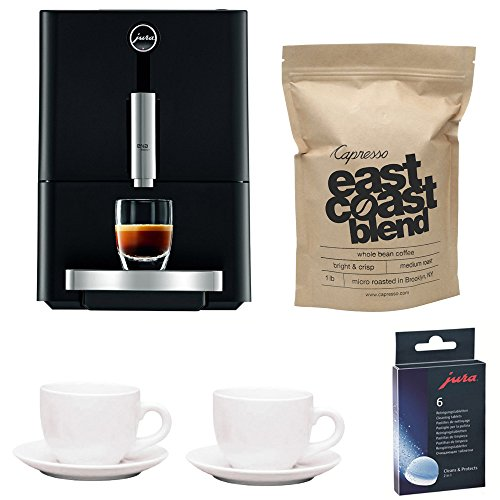 Jura Capresso ENA Micro 1 w/ Cleaning Tablets & Grand Aroma Whole Bean Coffee (Refurbished)
