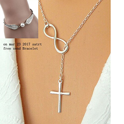 [Usstore Women Fashion Casual Personality Cross Lariat Necklaces Pendants Chain Gift] (Cute Costumes For Couples)