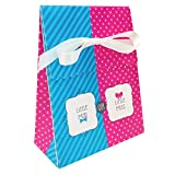 Bow or Bowtie? Favor Bag (12) with Ribbon Little Man or Miss Gender Reveal Shower