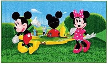 Micky Maus Wunderhaus Maus getanzt - Minnie Maus - Kinder Teppich  Kinderteppich mit Micky Mouse und Minnie Mouse / Teppich / Kinder Teppich /  ...