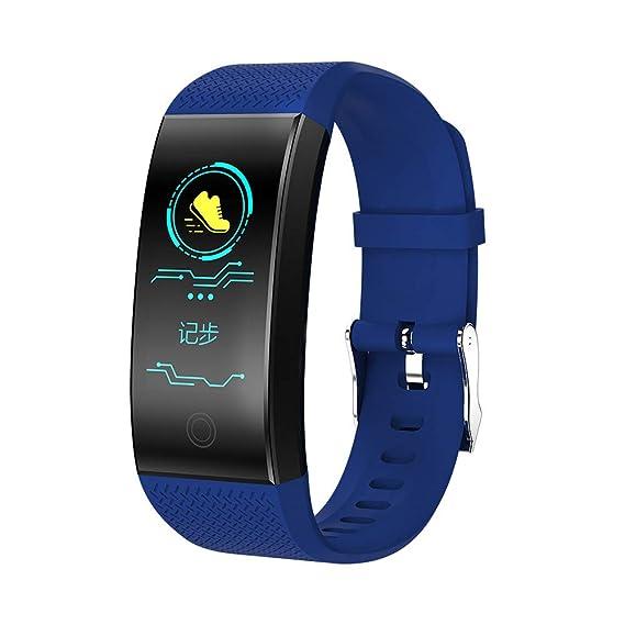 JiaMeng Reloj de presión Arterial QW18 Smart Watch Sports Fitness Activity Rastreador de frecuencia cardíaca(