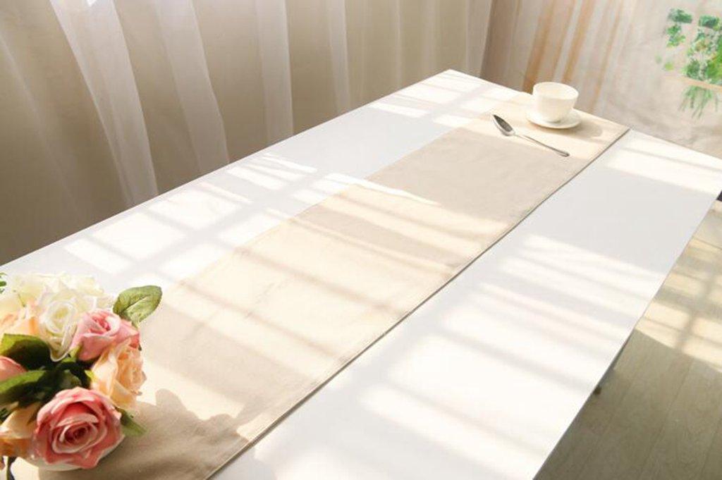 BiuTeFang Table Runner Table Runners Plain table flag Banquet Party Decoration 30X180cm linen
