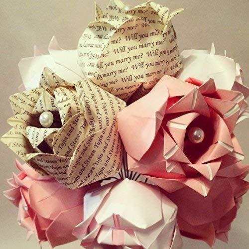 Amazon.com: Pink Blush Origami Flower Bouquet: Handmade | 500x500
