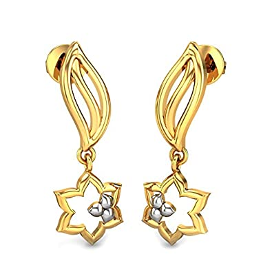 c08db2f88 Buy Candere By Kalyan Jewellers 22k (916) Yellow Gold Lydia Drop Earrings  for Women Online at Low Prices in India | Amazon Jewellery Store - Amazon.in