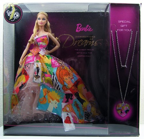 Barbie 50th Anniversary Generation of Dreams Doll with Bonus Necklace