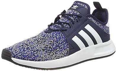 adidas, X_PLR Shoes, Men's Shoes, Dark Blue/White/Black, 7.5 US