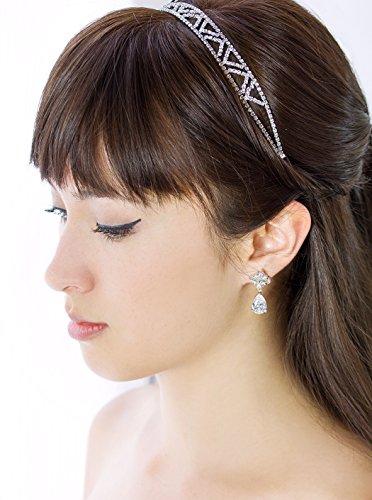 Art Deco Silver Crystal Rhinestone Headband, Bridal Headpiece, Hair Accessories