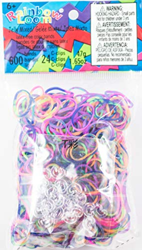 Rainbow Loom Assorted Tie Dye Rubber Bands, Pink/Purple/Red/Green/Orange