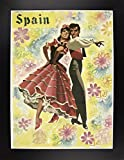 Spain and Flowers Framed Print 15.00''x11.09'' by Vintage Apple Collection