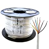Kenable Alarm Security & Signal Cable 8 Core COPPER 100m (~330 feet) Reel White