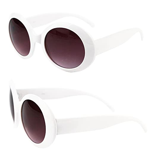 ea566f34795 Image Unavailable. Image not available for. Color  Womens Fashion Circle  Round Jackie O Bold Chic Sunglasses P547 ...