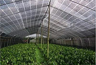 E.share 40% Black Shade Cloth Taped Edge with Grommets Sun Net Sun Mesh Shade Sunblock Shade Sail UV Resistant Net For plant cover For Greenhouse Flowers, Plants, Patio Lawn