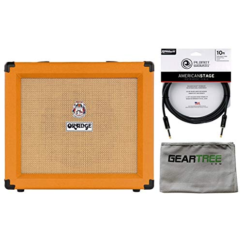 Orange CRUSH35RT 35 Watt Combo Amp w/ Reverb and Tuner (Orange) w/ Cleaning Cloth and Cable