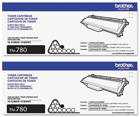 Genuine Brother TN 780 Cartridge 2 Pack